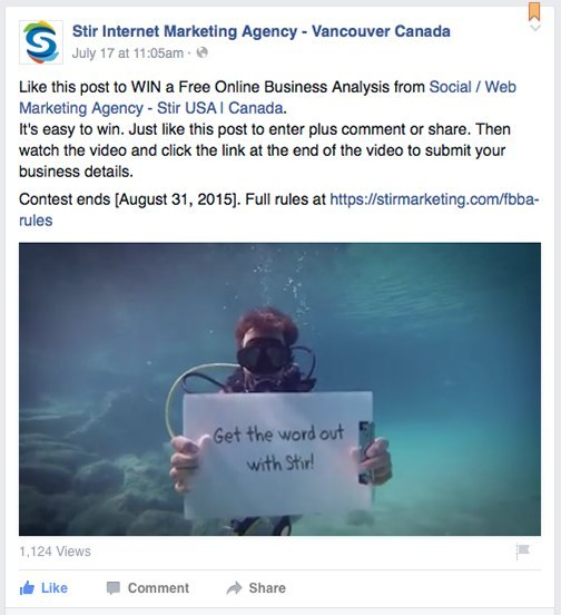 Facebook Timeline Contest Video