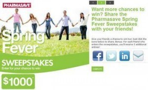 Pharmacy marketing - Online contest for Pharmasave BC