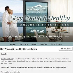 resort marketing - social media sweepstakes for Sparkling Hill Resort