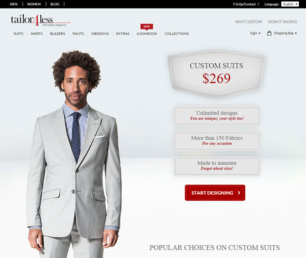 landing page ecommerce example