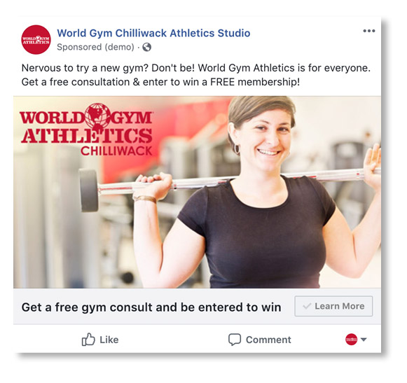 world gym facebook advertising