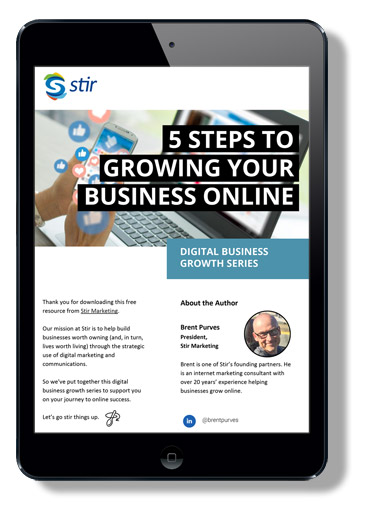 Free Ebook - 5 steps to growing your business online